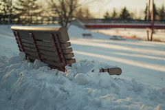 Snowed In... (Karl's Gal) Tags: hbm bench snow snowedin winter stalbert karlsgal redwillowtrail wow