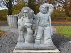 Heading into the wind (seikinsou) Tags: ireland westmeath winter pony horse dward fat basket turf peat wicker statue sculpture stone hat belvedere