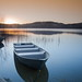 Sunrise over the bay (PeterYoung1.) Tags: atmospheric beautiful blue kinlochard landscape light morning orange reflections sunrise sunlight scenic scotland peteryoung1 uk water boat