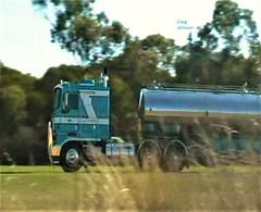 photo by secret squirrel (secret squirrel6) Tags: truck blue secretsquirrel6truckphotos craigjohnsontruckphotos kenworth milk tanker forrestertransport kw milktanker trucking screeshot cabover