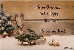 Happy Holidays (Hetwie) Tags: winter kaart kerstkaart christmas helmond noordbrabant nederland holidays happyholidays seasonsgreetings slee skies sled tree snow card navidad feliznavidad
