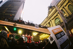 Untitled (jonathanbriu) Tags: film protest nyc 16mm fisheye