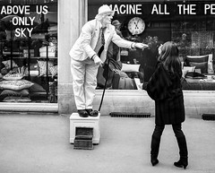 Charlot, Colmar, France (Etienne Ehret) Tags: colmar alsace france charlot charlie chaplin street rue noir noirblanc blanc bw black white canon 5d mark i classic 40mm pancake f28