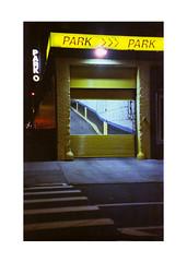 Park (James Eleftherion) Tags: leica m3 homedeveloped streetphotography 50mm c41 tetenal kodak cinefilm iso800 nyc night midnight shapes lightandshade epson v600 manhattan film analog filmisnotdead geometry blacks shadows witchinghour lights lines jupiter3 tribeca yellow blues newyork