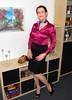 MorePink (Rikky_Satin) Tags: pink silk satin blouse black pencil skirt highheels pumps crossdresser transgender transvestite sissy secretary pantyhose