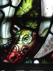Defeated Dragon (Aidan McRae Thomson) Tags: southwell minster cathedral nottinghamshire stainedglass window victorian kempe