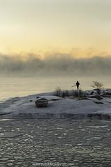Smoke on the water (Patrik Fagerström) Tags: sea seascape seasmoke fog ice nature sunrise island boat arctic uunisaari helsinki helsingfors finland cold