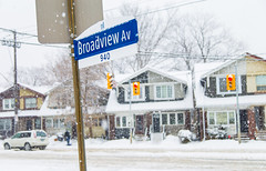 Snow Day on Broadview (Robby F) Tags: winter toronto city road broadview