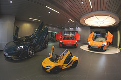 Mclaren collection, Hong Kong (Daryl Chapman Photography) Tags: mclaren 570s 650s 675lt british showroom 15mm f28 car cars auto autos automobile canon eos 5d mkiii is road engine power nice wheels rims hongkong china sar drive drivers driving fast grip photoshop cs6 windows darylchapman automotive photography hk hkg bhp horsepower brakes gas fuel petrol topgear headlights worldcars daryl chapman darylchapmanphotography
