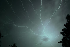 Full Sky of Light (lightonthewater) Tags: lightning clouds storm brentwoodtennessee thunderstorm tennessee trees