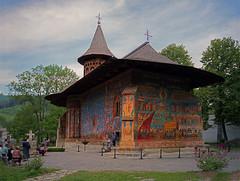 Humor Monastery - Romania (Adam Nowak) Tags: monastery paintings colors temple romania art faith