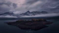 Riaño in blue (Iván F.) Tags: riaño leon water long exposure sunrise amanecer cloud clouds nubes mountain landscape landscapes nikon
