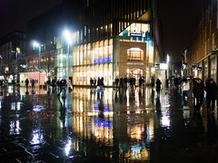 Liverpool Merseyside UK Shoppers on a rainy winters afternoon. (aedwards2991) Tags: bank britain british brolley brollies city down england europe gb great heads isles kingdom liverpool people rain rainfall raining rainy town uk umbrella umbrellas urban wet wind windy evening weather dark night