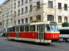 Praha, Dukelských Hrdinů 15.10.2016 (The STB) Tags: tramvajovádopravavpraze tramvaj praga prague prag praha tram tramway strassenbahn strasenbahn tranvía tatra tatrawagen