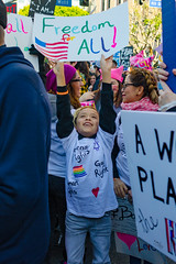 Enthusiastic Boy at Women's March (Kevin MG) Tags: protest march antitrump signs demonstrations women equality genderrights abc7eyewitnessnews outdoor