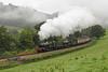 Glyndyfrdwy (Treflyn) Tags: morning mist manor class locomotives 7812 erlestokemanor 7822 foxcotemanor heavy train welsh countryside glyndyfrdwy llangollen railway 3p20 parcels photo charter