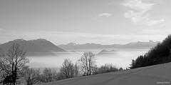 brumes au-dessus des vallées (Jeanne Valois 64) Tags: brume montagne isère grenoble france dauphiné alpes belledonne neige hier couchersoleil arbre forêt paturage hiver nuage chartreuse crépuscule lesecrins drac