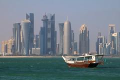 The skyline of Doha, Qatar (Frans.Sellies) Tags: img6154 doha qatar قطر