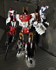 Superion (Klinikle) Tags: transformers arielbots autobots hasbro fighterjet jet helicopter supersonic plane robot combiner wars air raid firefly alpha bravo silverbolt skydive powerglide toyhax reprolabels