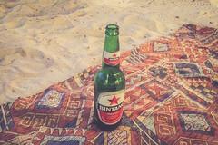 Bintang o'clock (Juha Helosuo) Tags: bali indonesia west nusa tenggara travel picnic beer bintang bottle beach iphone apple insta instagram sand rug paradise blanket sunset gili island hopping trawangan meno air