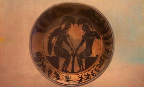 "Petteia - Ludus Latrunculorum  / Iconografía de las civilizaciones helenolatinas • <a style=""font-size:0.8em;"" href=""http://www.flickr.com/photos/30735181@N00/32522205835/"" target=""_blank"">View on Flickr</a>"