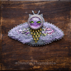 Butterfly-Shamancat-5 (shamancats) Tags: cat butterfly handmade brooch handpainted beadwork shibori catjewelry butterflyjewelry bohojewelry