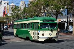 MUNI 1006 in San Francisco, Market Street DDC_4060 (foto_DM) Tags: sf sanfrancisco trolley tram muni streetcar strassenbahn fline pcc triebwagen motorwagen sfmta eembarcadero fmarketwharves flinie