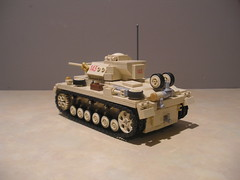 Lego Afrikakorps Panzer III Ausf L (504th Battalion) (Shockblast1) Tags: tank lego northafrica wwii ww2 vehicle worldwar2 panzer dak afrikakorps legotank panzerbricks