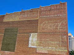 Wall of Ghost Signs, Roanoke, VA (Robby Virus) Tags: signs brick sign wall virginia ghost ad coke advertisement faded roanoke cocacola