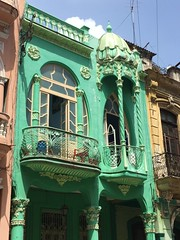 Havana, Cuba (jericl cat) Tags: building green architecture facade apartment princess balcony havana cuba vieja artnouveau classical cuban habana artenouveau
