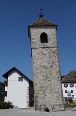 Prato Carnico.Bell tower in danger.