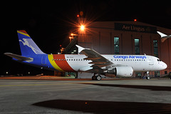 9Q-CLU A320-216  Congo Airways (n707pm) Tags: new airplane airport aircraft july airline startup airbus 25th airliner a320 320 2015 320216 congoairwayseidsmdubeidwireland25072015azadublin airportpaintshopdelivery2newairlinecongodublin 9qclu
