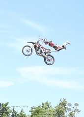 Superman (alyssa_lilly) Tags: california county summer west coast fair bayarea dirtbike trick activity alameda westcoast alamedacountyfair motorists