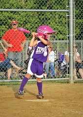 IMG_5019.JPG (Jamie Smed) Tags: park pink ohio summer people usa game color cute sports girl field sport june youth geotagged fun photography fan kid team midwest uniform child play purple baseball little action sony innocent bat adorable parks player american innocence fans softball alpha dslr athlete a200 geotag vignette browncounty app 2010 batter likeagirl handyphoto passthelove playlikeagirl shebelieves iphoneedit snapseed jamiesmed