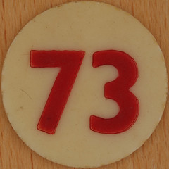 Bingo Number 73 (Leo Reynolds) Tags: xleol30x squaredcircle number numberbingo xsquarex bingo lotto loto houseyhousey housey housie housiehousie numberset 73 sqset120 70s canon eos 40d xx2015xx xxtensxx sqset