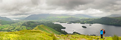 Keswick from Catbells (stumpyheaton) Tags: england panorama mountain lake water clouds dark landscape countryside day view walk district pano july hills fells derwentwater walkers 18200 keswick catbells 2015 d5100