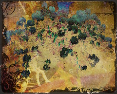 on a cloud I saw a child (ellyn=writing) Tags: photoshop rhododendron cirquedusoleil williamblake thepiper pixlr theawardtree txeep vintagefloralcontest