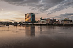 The River Usk Newport (saundersc29) Tags: city sky water wales clouds river dusk south newport hightide newportbridge