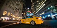 Yellow Cab on Park Avenue (dansshots) Tags: yellowcab taxi yellowtaxi parkave parkavenue dansshots nikon nikond750 rokinon14mm rokinon nyc newyorkcity newyorkatnight nightphotography nightshot iloveny wideangle cab
