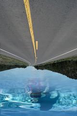 The Upside Down (booklover713) Tags: swim swimming upside down inverted longroad upsidedown sky road blue water art street