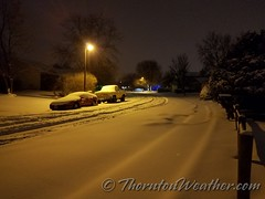 December 17, 2016 - Fresh snow in the early morning. (ThorntonWeather.com)