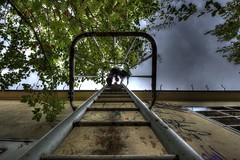 Urbexing... (urban requiem) Tags: échelle ladder urbex urban exploration abandonné abandoned verlaten verlassen elsass lost old decay derelict hdr 600d 816 sigma usine teinturerie usinepiedssensibles graf graff graffiti art