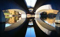 reflections under the bridge (kalakeli) Tags: brücken bridges münster dezember december 2016 aasee seen lakes structures reflections reflektionen wasser water
