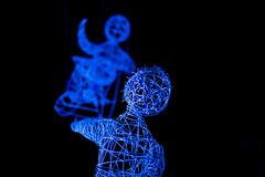 Blue I (mikkowaeder) Tags: show oulu person light blue cradle