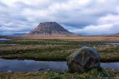 Time to go fishing (OR_U) Tags: 2017 oru iceland kirkjufell mountain rock coast bluehour le longexposure landscape clouds