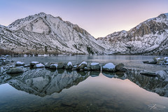 Convict Lake in Winter (Rkitichai) Tags: convict lake winter landscape landscapephotography travel travelphotography travelnutzmn rkitichaicom roadtrip snowmountain mountain water reflection twilight outdoor mammoth california