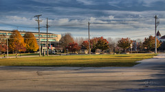 Parking lot for sale Waukesha WI by sheldn (2sheldn) Tags: parking lot sale waukesha wi sheldn canon t5i hdr sky blue autumn fall cloud white grass green tree yellow red