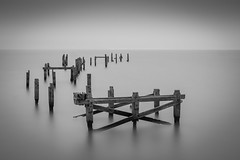 Swanage old pier (Nathan J Hammonds) Tags: swanage ol pier monochrome nd 10stop nikon d750 dorset sea smooth hdr coast calm