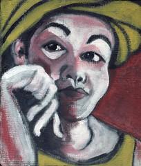 Kimie (Gila Mosaics n'stuff) Tags: portrait wip acrylic cementatioussubstrate portraitparty jkpp hand gilamosaics