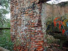 Smokehouse Wall (BunnyHugger) Tags: charleston dorothybkearnspark letterboxing southcarolina wandoriver